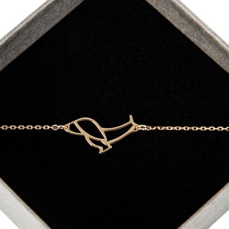 Gold pleated bracelet